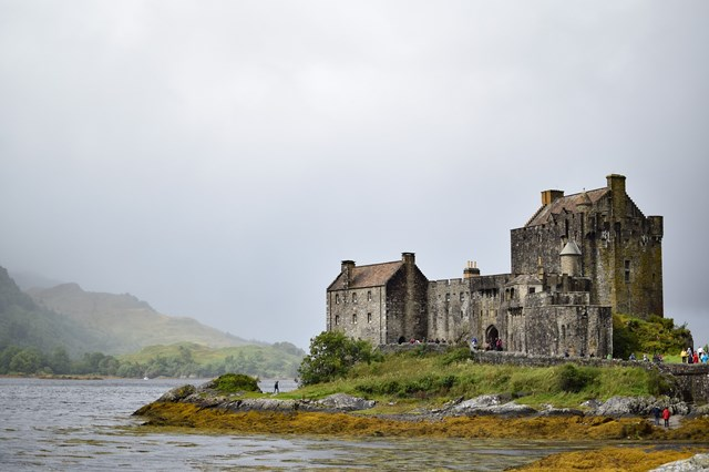 Eilean Donan castle and MS don't mix